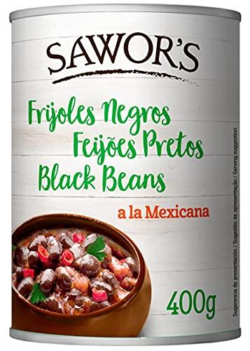 SAWORS - Frijoles Negros Enteros, Alubia Negra, Black Beans, Ideal
