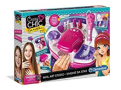 Clementoni 15994Crazy Chic - juego de maquillaje Estudio de uñas (Nail Art Studio) multicolor