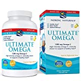Nordic Naturals Ultimate Omega SoftGels - Concentrated Omega-3 Burpless Fish Oil Supplement With More DHA & EPA, Supports Heart Health, Brain Development and Overall Wellness*, Lemon Flavor, 210 Count
