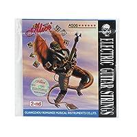 Alice B-2nd超軽い張力、コーティング鋼製エレクトリックギター弦、ニッケルメッキボールエンド