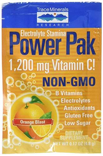 Trace Minerals Electrolyte Stamina Power Pak, Orange - 30 packets