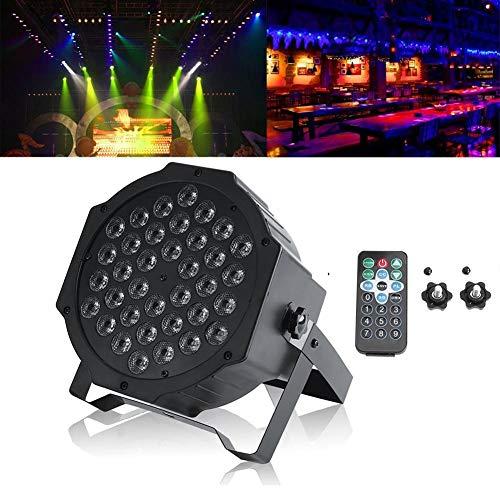 LED Bühnenlicht, LED Stage Light Scheibe Par DJ Strahler 72 W 36 LED Lichteffekt für KTV Discoteca Bar Club Weihnachten DJ