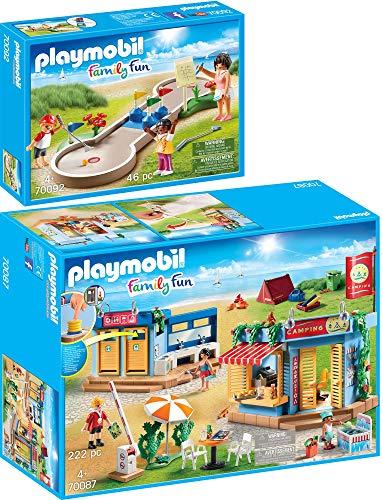 PLAYMOBIL® Family Fun 2er Set 70087 70092 Großer Campingplatz + Minigolf