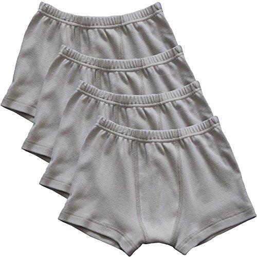 HERMKO 2900 4er Pack Jungen Pants - Reine Bio-Baumwolle, Farbe:grau, Größe:116
