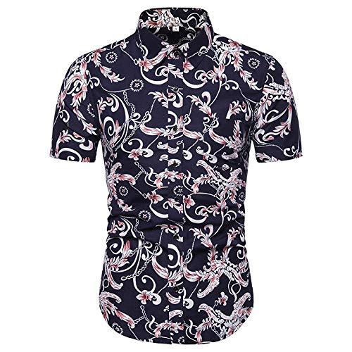 Camisas de Manga Corta para Hombre Camisas Informales Estampadas Americana de Verano Camisas de Manga Corta de Moda 5XL