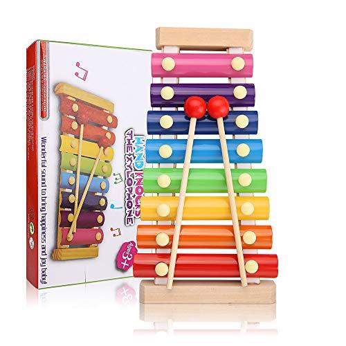 Comius Sharp Xylophone Jouets Knock Piano, Instrument de Musique Xylophone en Bois pour Les Enfants, Clavier Instrument de Musique en Bois Un Grand Jouet Musical pour Les Enfants