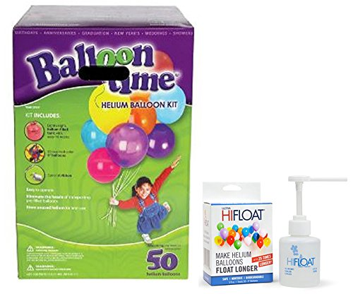 Buy Discount Balloon Time Disposable Helium Kit ,Tank 14.9 cu.ft - Plus an Ultra Hi-Float - Party Ba...