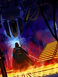 "Star Wars art poster print /""Tatooine Sunset/"" by Rich Davies"