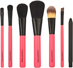 STELLAIRE CHERN 7 Pieces Professional Makeup Brush Set Cosmetic Brushes Kit with Case - Red