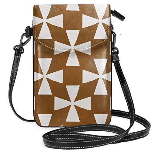 LEPO'S Handy-Umhängetasche Tasche Handtasche Mokka-Wirbel Crossbody Smartphone Geldbörse