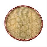 Colador de arroz de bambú con agujero de mano de granjero de bambú tiene el agujero de bambú para secar los productos de té tamiz de bambú y maquillaje de bambú fino redondo