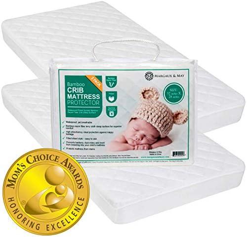 Crib Mattress Protector Pad 2 Pack Ultra Soft Mom s Choice Award Winner by Margaux May Waterproof product image