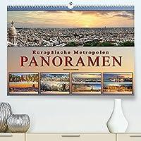 Europaeische Metropolen - Panoramen (Premium, hochwertiger DIN A2 Wandkalender 2022, Kunstdruck in Hochglanz): Eindrucksvolle Metropolen Europas in aussergewoehnlichen Panoramen. (Monatskalender, 14 Seiten )