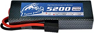 YOWOO 2S Lipo Battery 5200mAh 35C 7.4V RC Battery Hard Case with Traxxas Plug for RC Evader BX Car Truck Truggy Buggy Losi Traxxas Slash Buggy Team Associated RC Heli Airplane Drone FPV (5200mAh TRX)