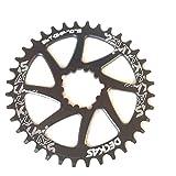Para SRAM GXP bicicleta Kurbelgarnitur al 707532T 34T 36T 38T ancho estrechos Cadena Hojas, negro