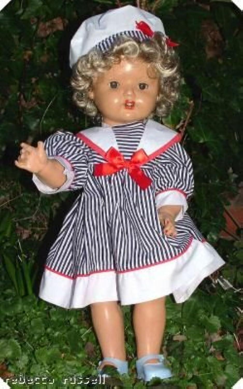 ventas calientes C1940s hard composition doll doll doll rojoressed new wig (peluca)  marca de lujo