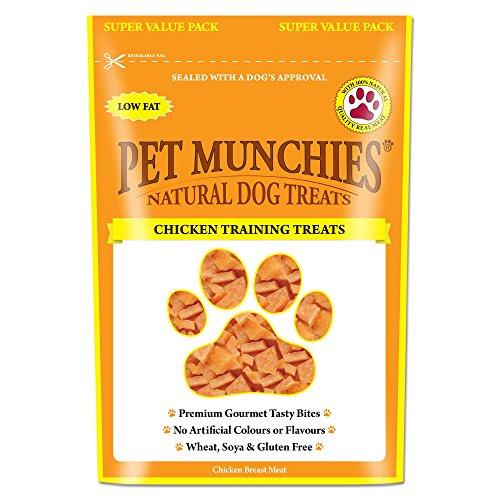 Hundetrainingsleckerlis mit Hühnergeschmack,von Pet Munchies, Packung mit 8 Stück