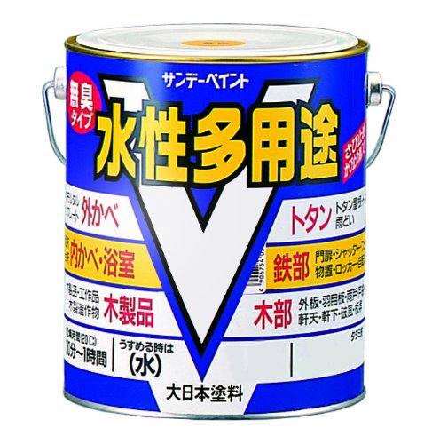 サンデーペイント 水性多用途 黒 1.6L