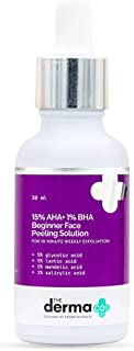 The Derma Co 15% AHA + 1% BHA Beginner Face Peeling Solution for 10-Minute Weekly Exfoliation - 30ml(dermaco)