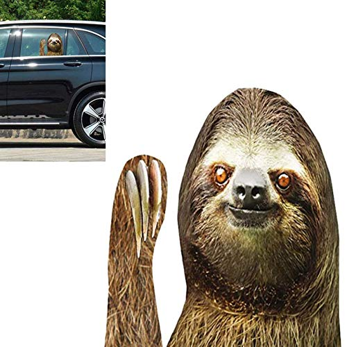 BBear Sloth Car Sticker Car Window Decal Funny Car Sticker Cling Window Decal for Vehicles, Easy Removal Leaves No Residue (for Left Side)