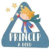 StarStick - Príncipe a bordo – triángulo adhesivo de Bebé a Bordo - Catalán