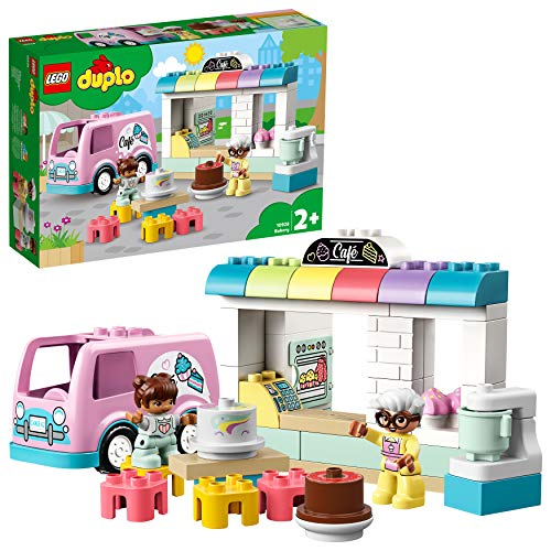 LEGO DUPLOTown Pasticceria, Playsetcon Furgoncino,Torte e Pasticcini,Grandi Mattoncini per Bambini dai 2 Anni in su, 10928
