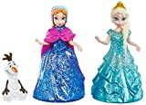 Beloved characters from the movie Frozen are ready to glide around the kingdom with an all-new rolling mechanism! Just roll them forward and watch them slide over the snow Re-create your favorite scenes from the movie or make up icy cool adventures o...
