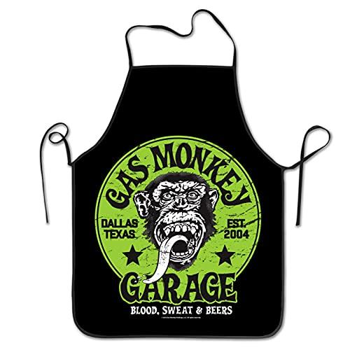 Delantal de cocina de gas mono chef delantal babero para mujeres y hombres
