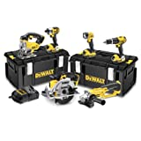 <span class='highlight'>DeWalt</span> 18V XR Lithium-Ion Cordless Package with 3 x 4Ah Batteries (6 Pieces)