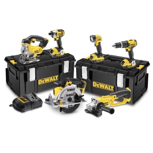 Dewalt DCK691M3-GB XR Lithium-Ion Cordless Drill Driver with 3 x 4.0Ah Batteries, 18V, 53cm x 47cm x 36cm, Black/Yellow, 6 Pcs