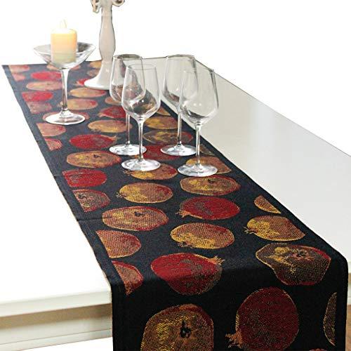 SJDZQ Corredores de Mesa de algodon, Granada para Mesa de Comedor, gabinete de TV, 5 tamanos para Elegir (tamano : 35×240cm)