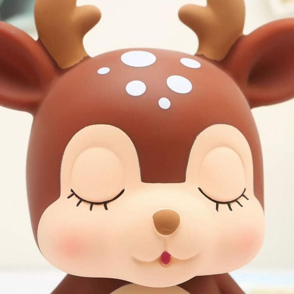 Toddmomy 1 Unidad de Caja de Ahorro de Banco de Monedas de Ciervo Hucha de Ahorro de Animales de Dibujos Animados para Ni/ñas Ni/ños Adultos Rosa