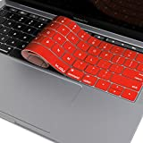 Kuzy Compatible with MacBook Pro Keyboard Cover with Touch Bar for 13 and 15 inch 2019 2018 2017 2016 (Apple Model A2159, A1989, A1990, A1706, A1707) Silicone Skin Protector, Red