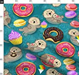 Otter, Donuts, Ozean, Kawai, Cupcakes Stoffe - Individuell