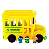 """Zomlings """"in The Town"""" Crazy School Bus Miniture Figure, Assorted Colors"""