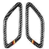 Tira de protección para coche Pegatina decorativa de salida de aire de tablero de instrumentos de color alemán de fibra de carbono para coche para Mercedes-Benz A Class 2013-2018 / CLA 2014-2018 / GLA