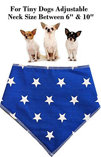 Spoilt Rotten Pets S1 Hundehalstuch, Blau mit weißen Sternen, 0,04 kg