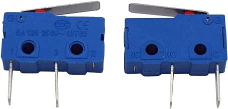 Taiss 10pcs 250V 5A 3 Pin NO Tact Switch Sensitive Micro Switch Micro Switches Handle Limit Switch Long Life 1 Million Life KW11-3Z-1