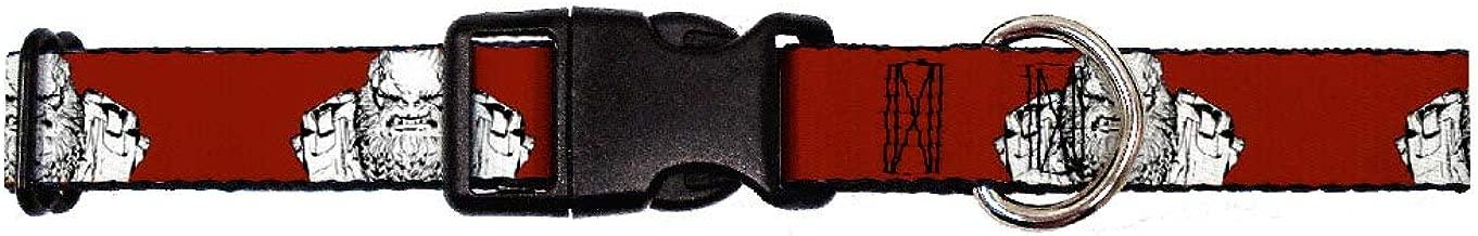 Buckle-Down Martingale Dog Collar - Halo Wars 2 Atriox Bust Pose Burgundy/Black/White
