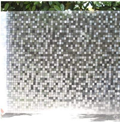 LMKJ Evite Que Las Puertas y Ventanas Opacas penetren en Ventanas de Mosaico adheridas electrostáticamente y películas de Aislamiento térmico de Colores para el hogar A41 45x100cm