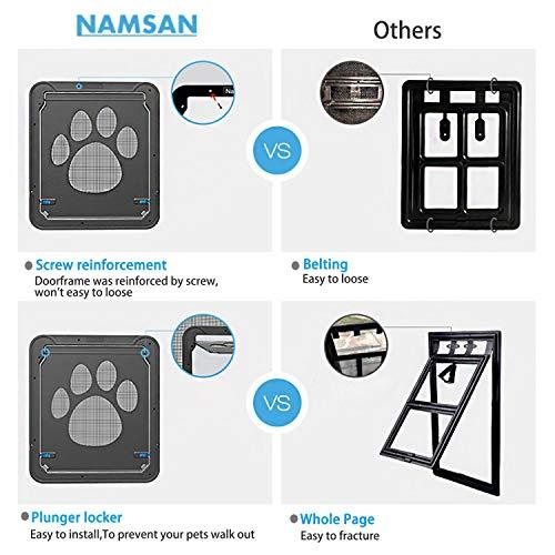 Namsan Dog Screen Door - Inside Size 12x14 inches...