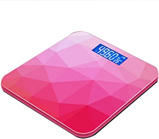 Báscula de baño digital de peso corporal de alta precisión con plataforma de vidrio templado, báscula electrónica Capacidad de 180 kg Tecnología Step-On Pantalla LCD retroiluminada,Battery