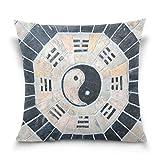 Lewiuzr Funda de cojín Obra de Arte Chino Yin Yang Vintage...