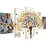 decoración de la mesa Wall Gustav Klimt Árbol de la Vida - 100 x 50 cm Vista de impresión en lienzo Salón Apartamento - listo para colgar - 004652a