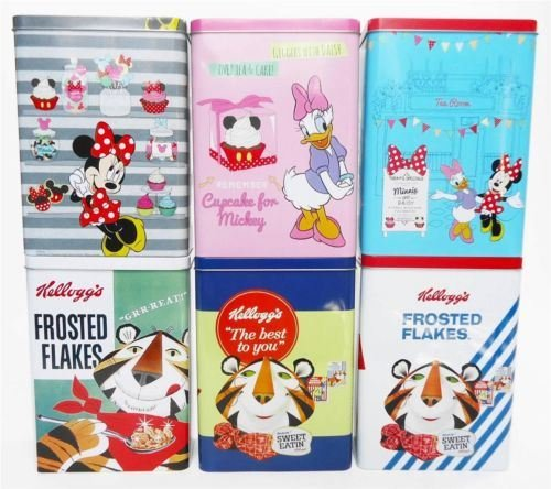 Retro de Kelloggs de Minnie Mouse de Disney caja metálica para ...