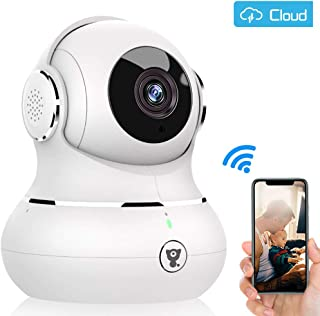 Indoor Pet Home Security Camera - 1080P Littlelf IP Camera WiFi Wireless Baby Monitor Surveillance with 2-Way Audio, Cloud Service, 3D Panorama, Night Vision, Remote Detect for iOS/Android
