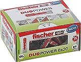 fischer - Cheville bi-matière et multi-matériaux DUOPOWER 6x30 / Boîte de 100