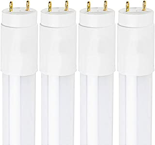 Luxrite 3FT LED Tube Light, T8, 16W (25W Equivalent), 6500K Daylight, 1600 Lumens, Fluorescent Light Tube Replacement, Direct or Ballast Bypass, ETL Listed (4 Pack)