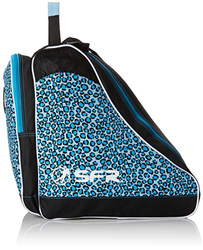 Sfr Skates Designer Ice & Skate Bag, Unisex-Erwachsene Stofftasche, Blau (Blue Leopard), 24x15x45 cm (W x H L)