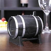 NancyMissY ワイン樽プラスチック自動つまようじボックスコンテナディスペンサーホルダー人気の